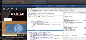 Narzędzia developerskie przeglądarki Chrome
